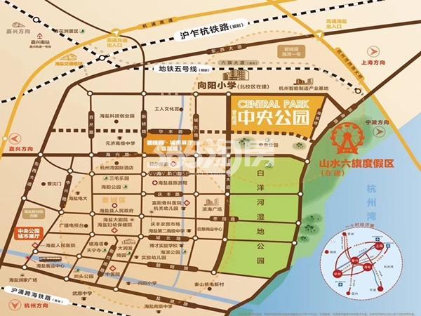 碧桂园中央公园交通图