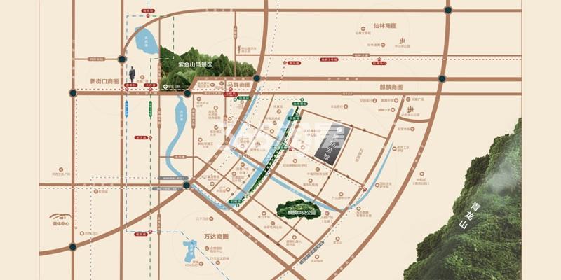 蓝光黑钻公馆交通图
