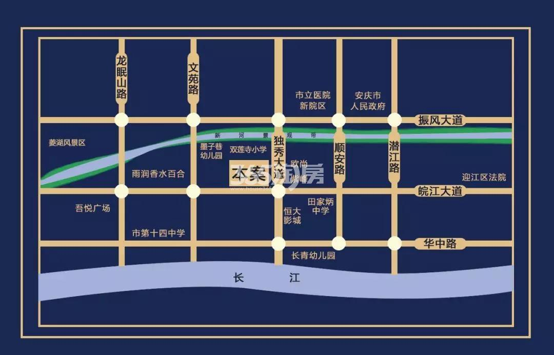 雨润中央新城四期交通图