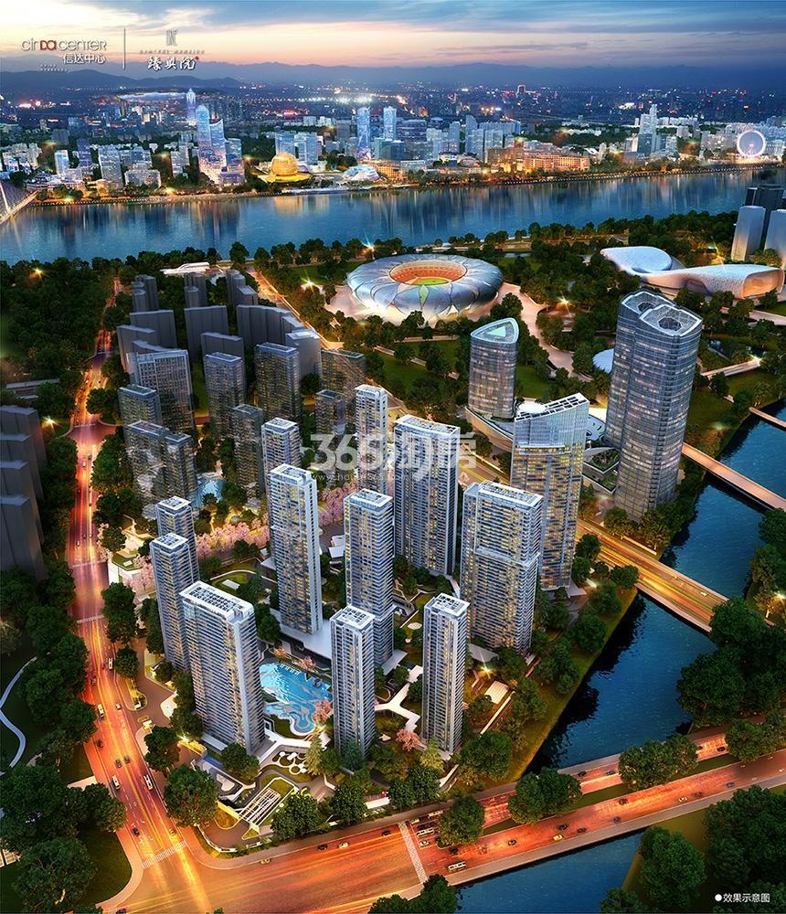 信达中心|杭州壹号院鸟瞰图