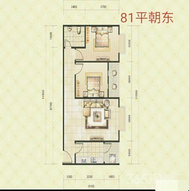 雁塔区电子正街阳光80公寓4500急售2室1厅1卫79平米