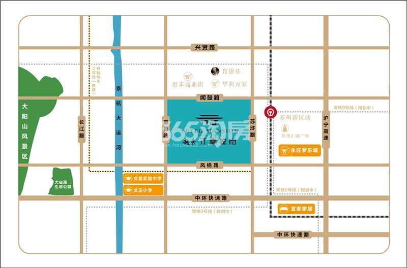 越秀·江南悦府交通图