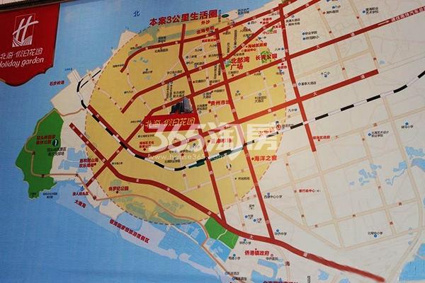 北海假日花园交通图