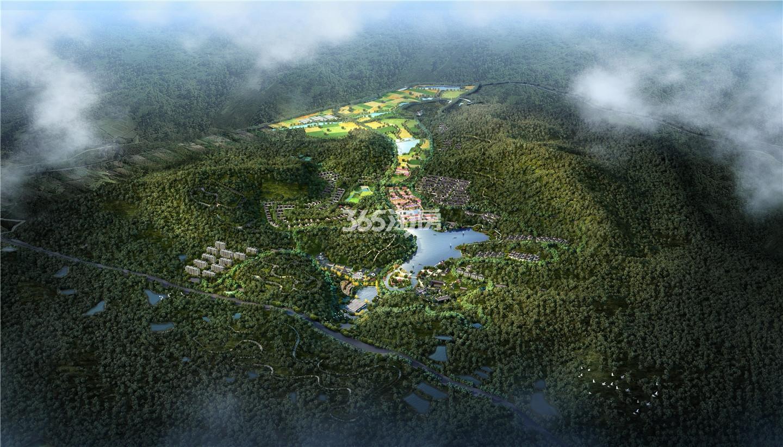 濮塘桃里度假村鸟瞰图