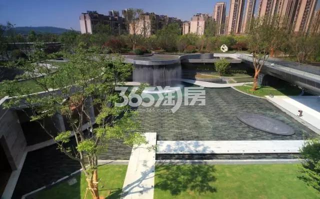 京奥港未来墅售楼处景观实景图(10.26)
