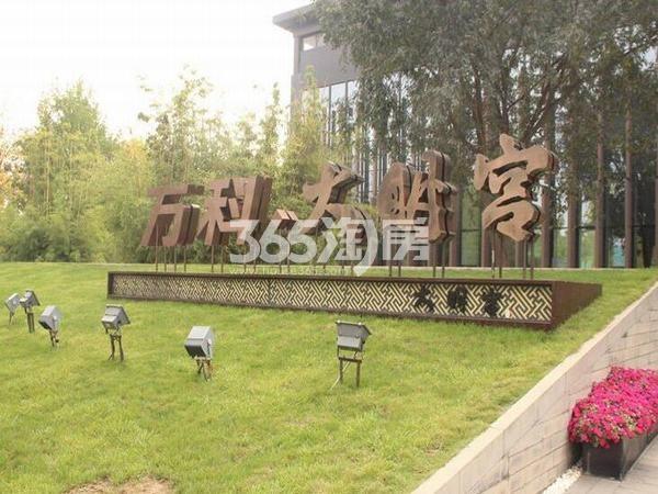 万科大明宫楼盘名称标志实景图(2017.12.4)