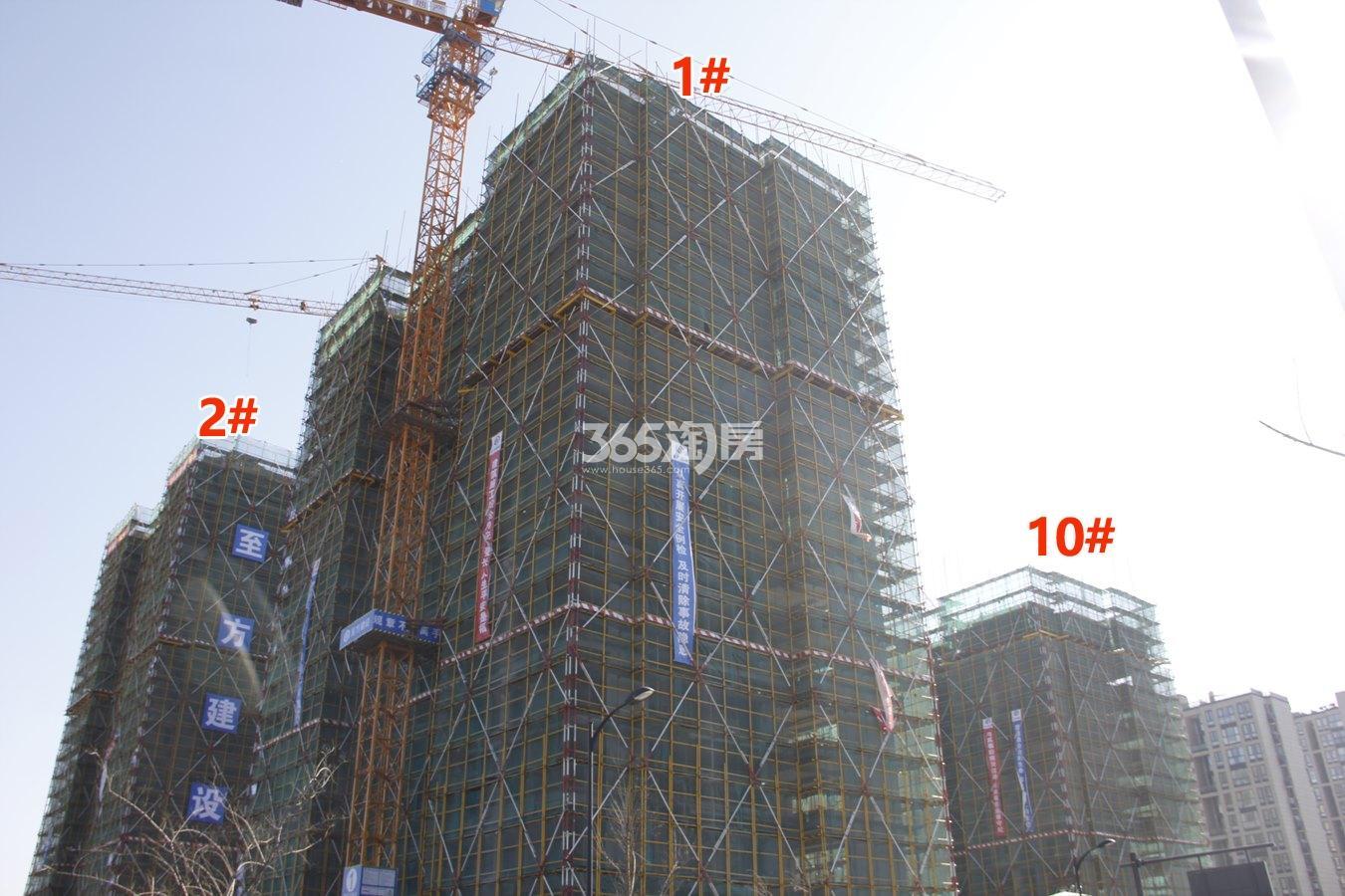 绿都汀蘭府1、2、10号楼施工进度实景图 2018年1月摄