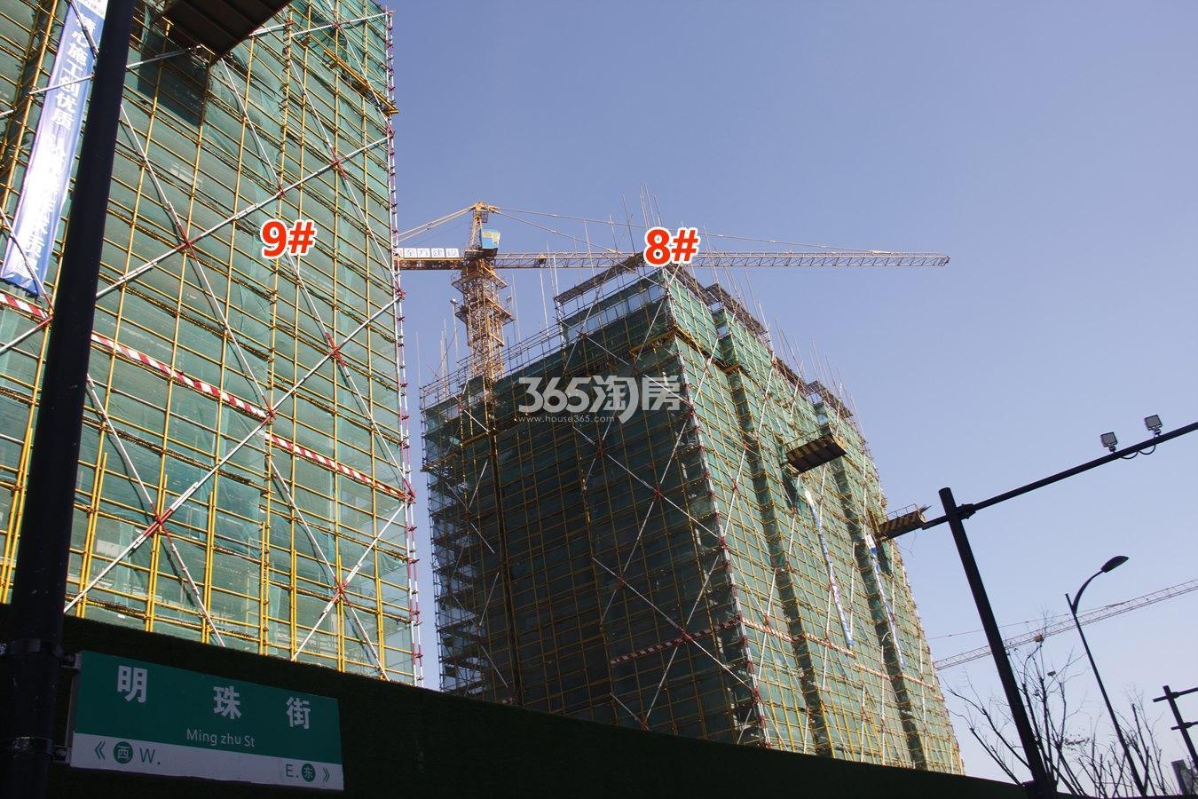 绿都汀蘭府8、9号楼施工进度实景图 2018年1月摄