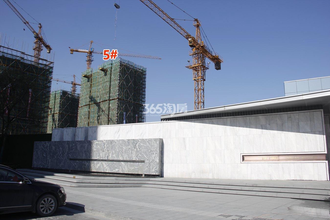 绿都汀蘭府5号楼施工进度实景图 2018年1月摄