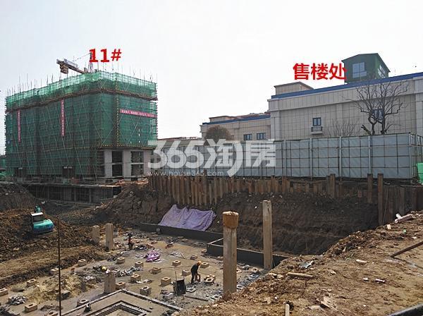 珍宝岛熙悦府在建11#楼和售楼处实景图(3.14)