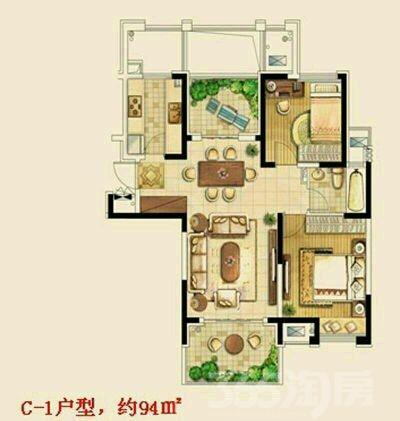 金东城世家3室2厅1卫110平米整租简装
