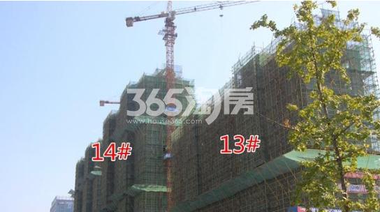 悦湖山院13#、14#楼实景(2018.1.15)