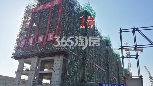 中海熙岸华府1#楼建至8层已封顶(1.15)