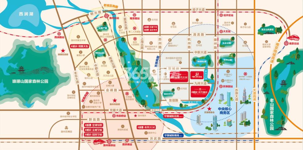 北京城房时代庄园交通图