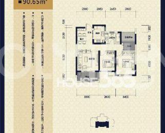 保利拉菲公馆3室2厅1卫92�O整租简装