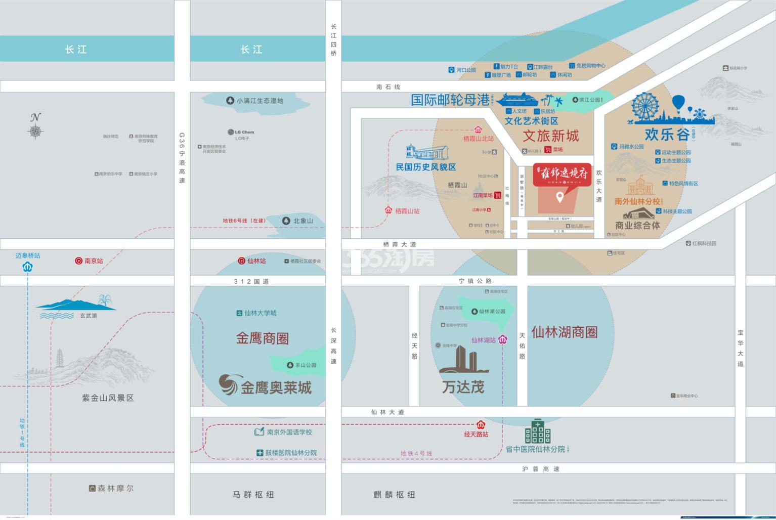 蓝光雍锦逸境府交通图