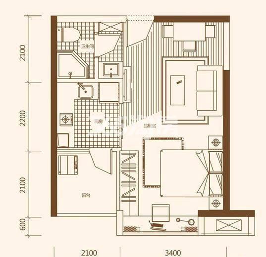 21°公馆三期户型图