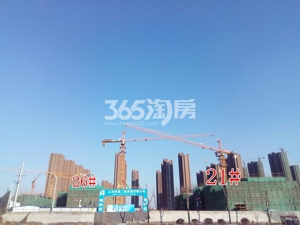 中梁香缇公馆26#楼建至约4层、21#建至3层(1.16)