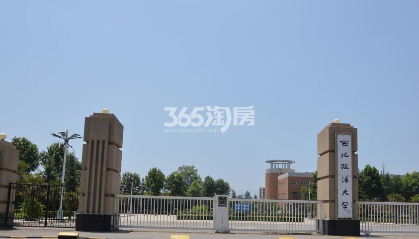 万景荔知湾周边西北政法(拍摄于2017.12.02)