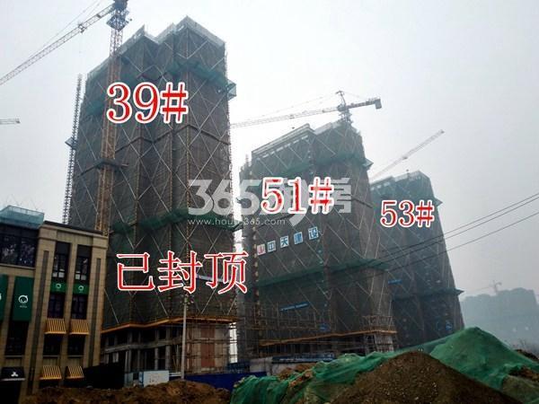 绿地工润和平壹号四期39#、51#、53#工地实景图(1.16)