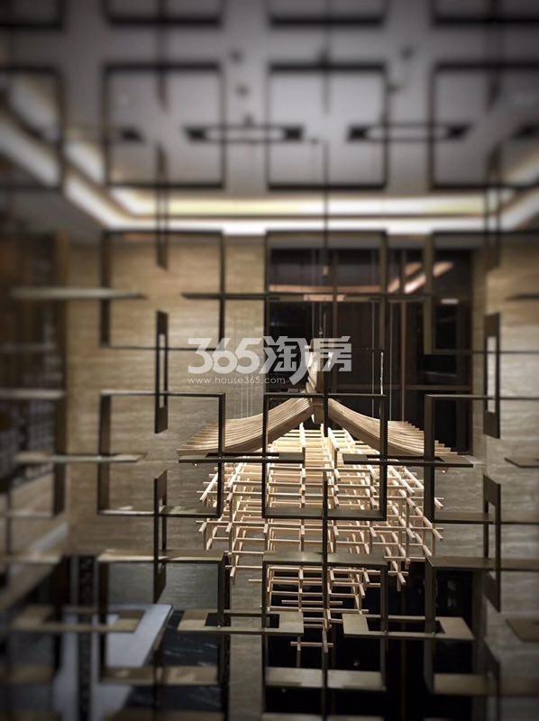 远洋雁归里售楼处实景图 2017年10月摄