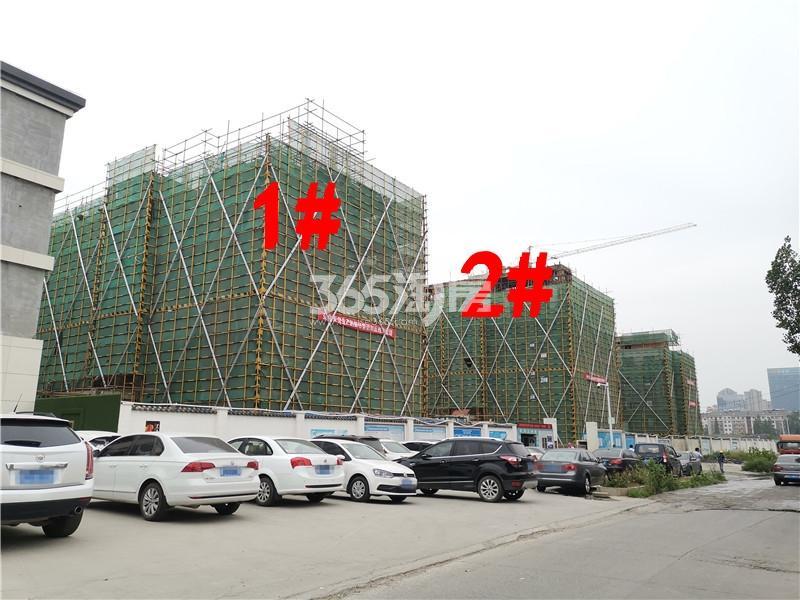 绿地理想城悦湖公馆在建1、2#楼实景图(6.25)
