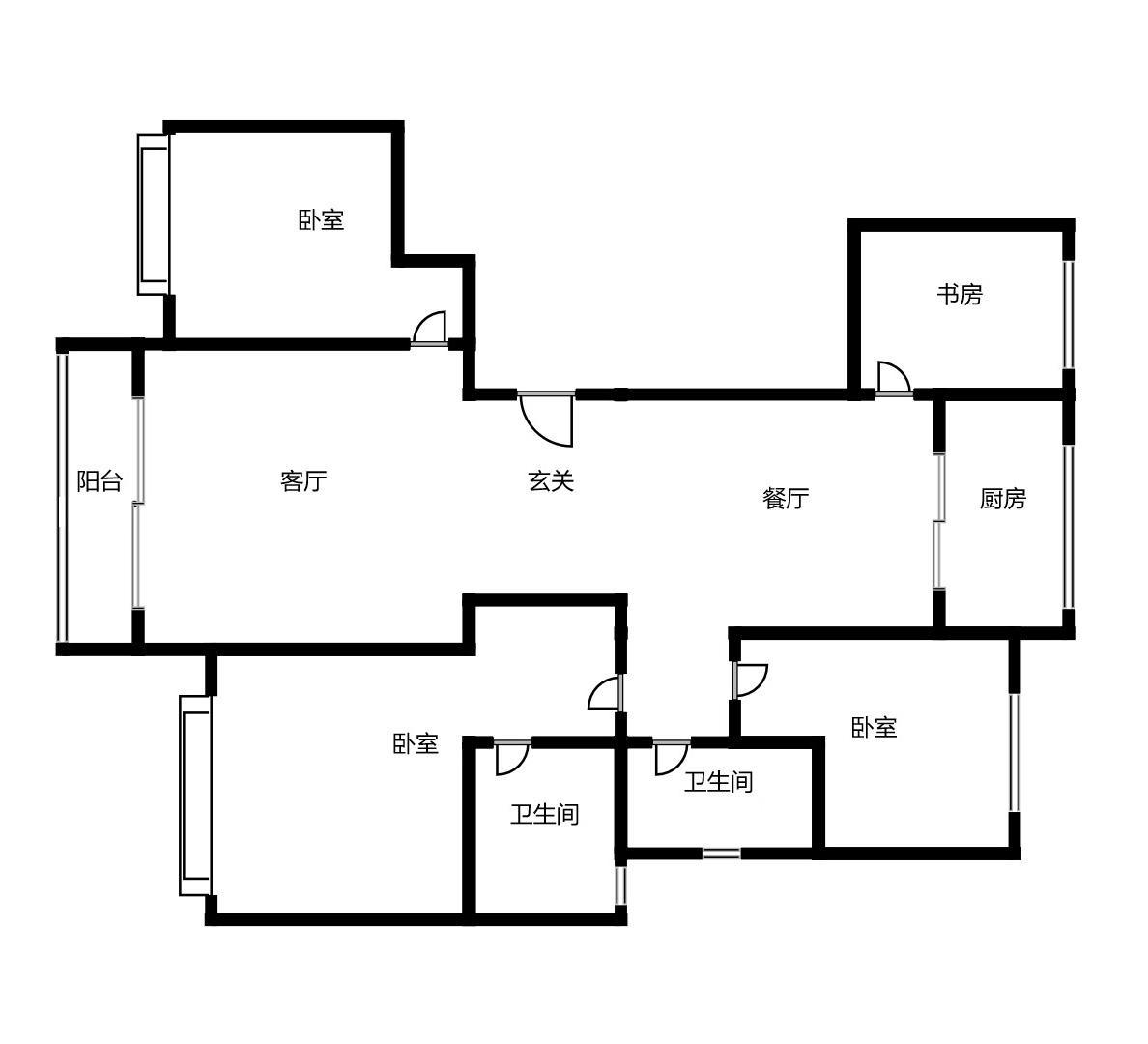金辉江山铭著四室两厅两卫136㎡户型图