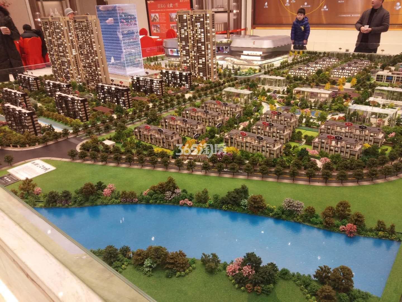 龙湖江与城实景图