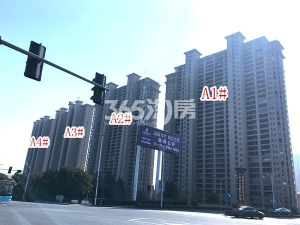长泰国际社区北地块A1-A4#楼高层实景图(2018.3 摄)