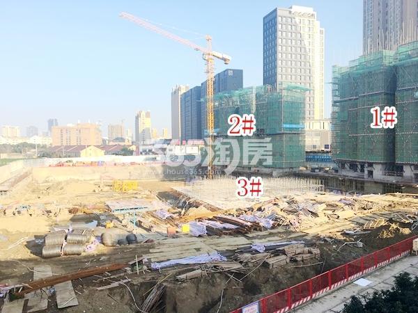 中洲崇安府一期1#、2#、3#楼实景图(2018.3 摄)
