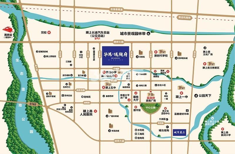 华鸿珑樾府交通图