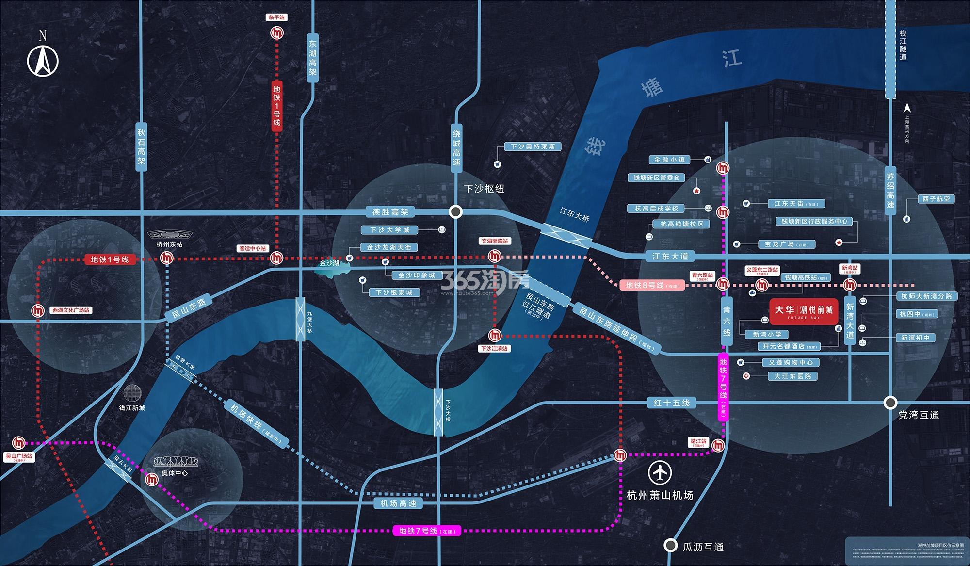 上海大华潮悦前城交通图