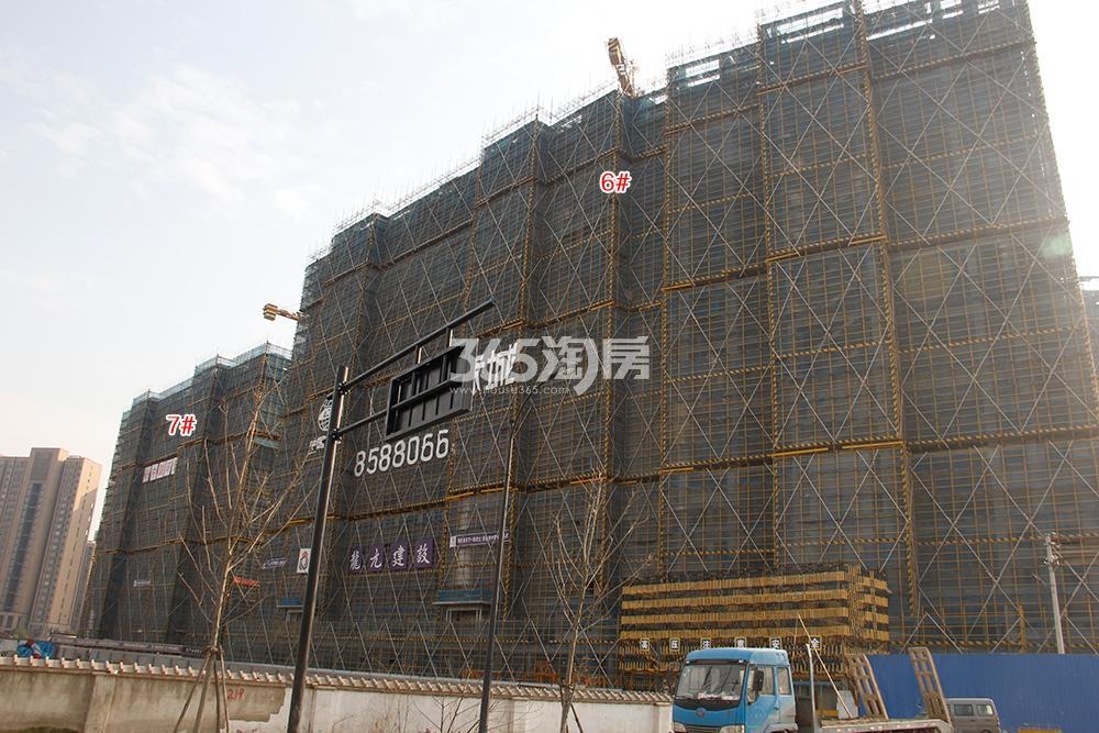中国铁建西湖国际城高层6、7号楼实景图(2018.1)