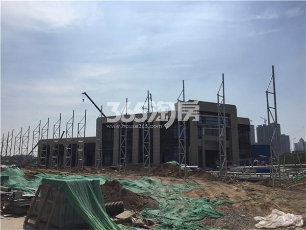 中海九樾在建售楼部实景图(6.13)