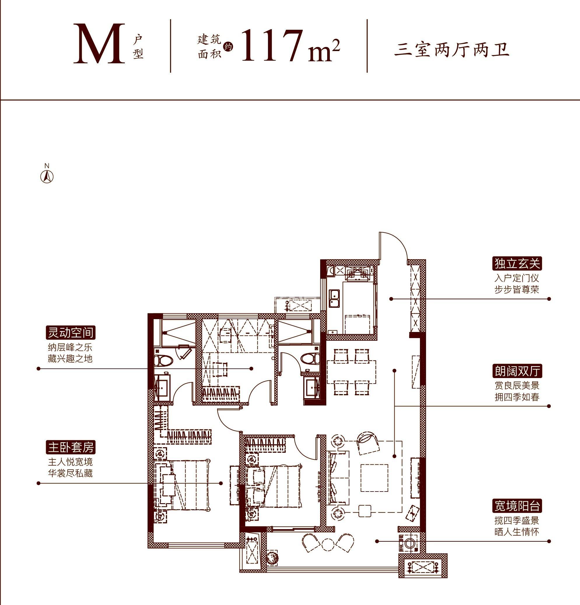 大发通银融悦府M户型(117㎡)