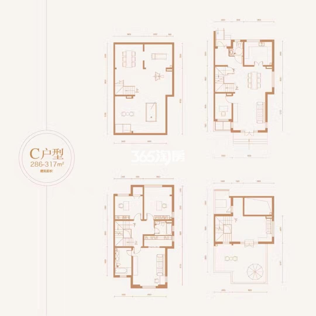 C户型286-317平米