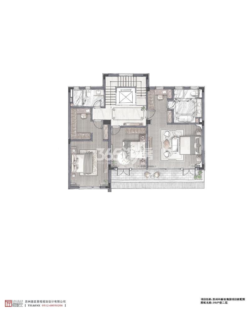 388㎡户型二层家配图