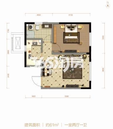 61平米 1室2厅1卫