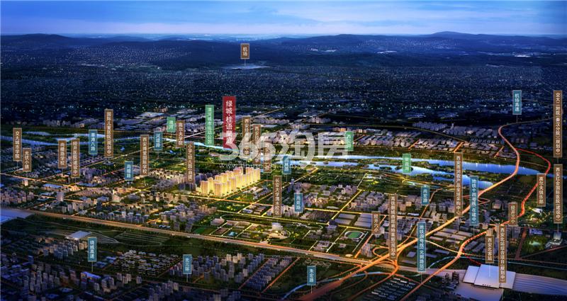 绿城桂语蘭庭交通图