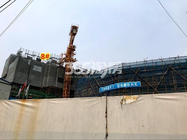 世茂时光里8#楼工程进度实景(2018.4摄)