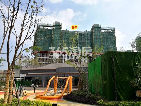 绿地天空树8#楼洋房工程实景(2018.4摄)