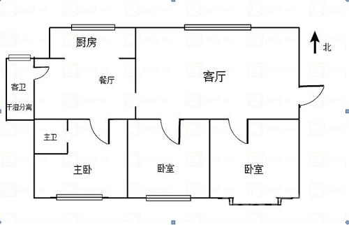公务员小区D区3室2厅2卫144平方精装修