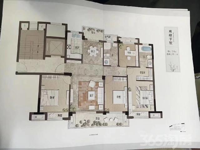鸿翔・桃花源4室2厅2卫134�O产权房毛坯