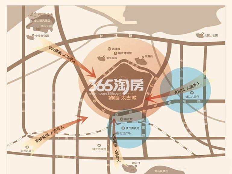 启迪协信太古城交通图