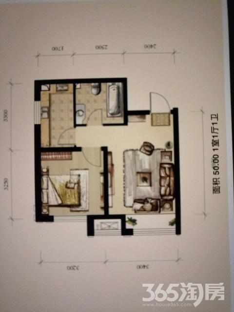 保利香槟国际1室1厅1卫50平米2014年产权房毛坯