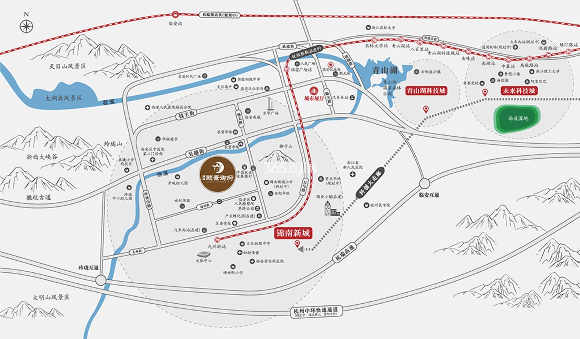 锦溪颐景御府交通图