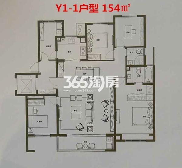 Y1-1户型 154㎡