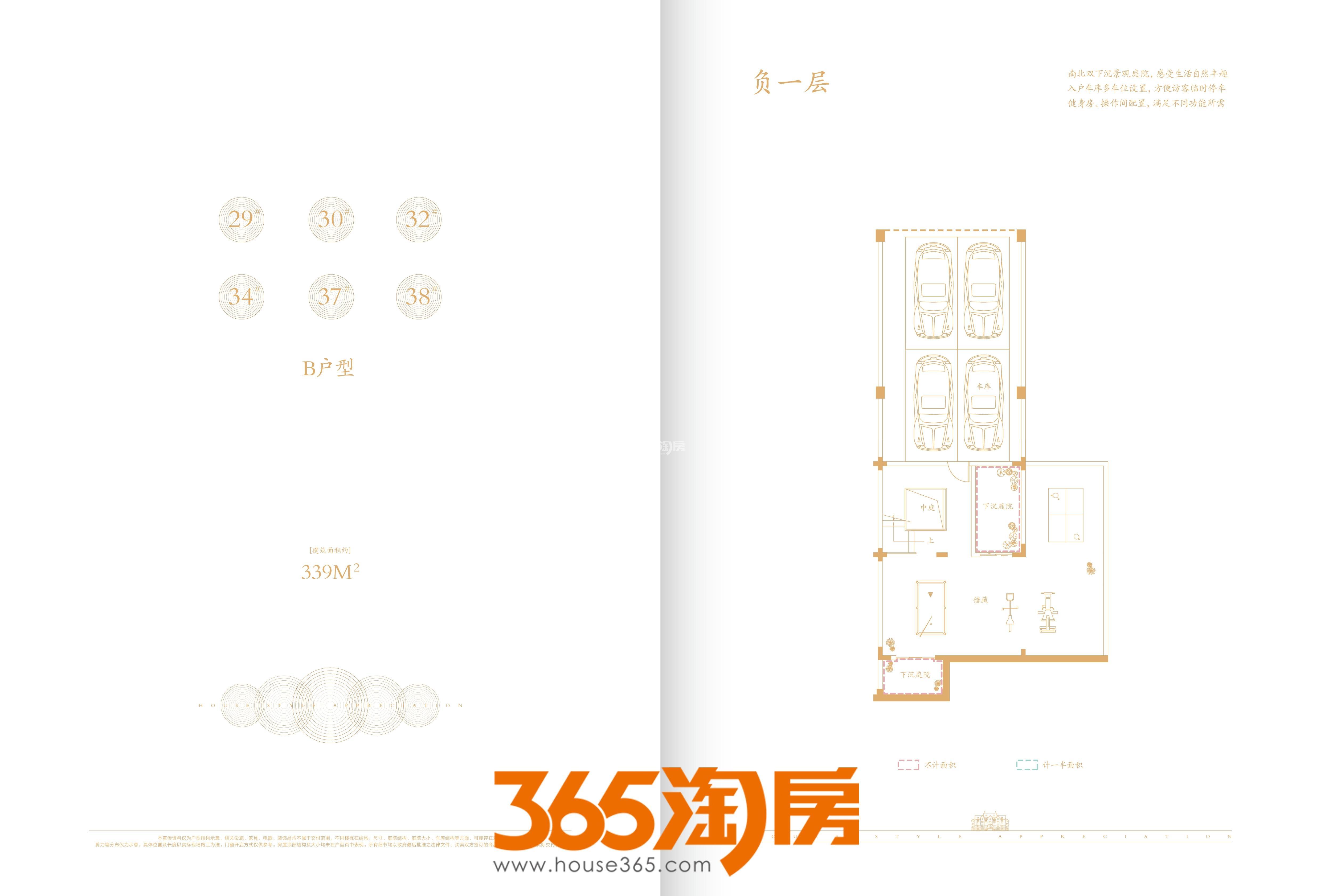 合肥云谷别墅339㎡负一层户型图