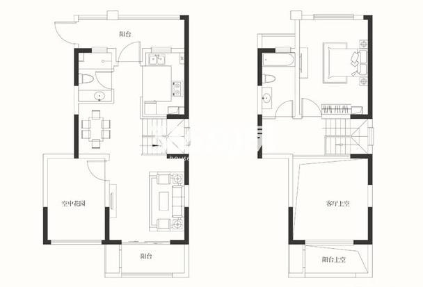 华润橡树湾花园四期 复式A户型109平 1室2厅2卫1厨