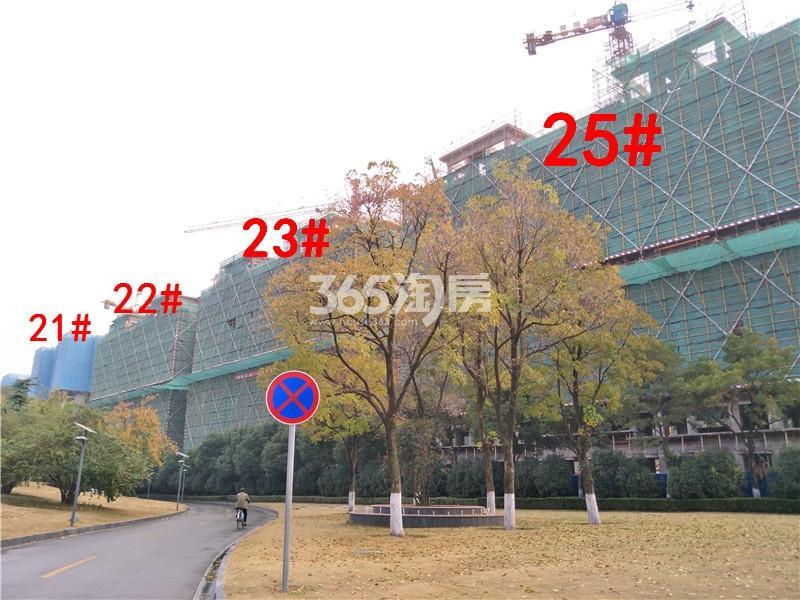 中梁首府21、22、23、25#楼在建实景图(11.20)